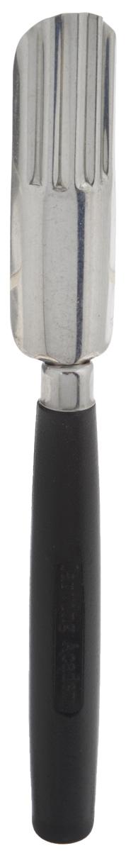Нож для карвинга Borner Волнистый овал, длина лезвия 6 см3710108Нож для карвинга Borner Волнистый овал изготовлен из металла и пластика. Изделие предназначено для изготовления волнистыхлепестков. Карвинг по овощам и фруктам - это искусство, пришедшее к нам из восточных стран.Вырезание - работа созерцательная и очень творческая. Вашим вознаграждением будетизумление и восхищение всех, кто увидит законченный дизайн. Общая длина ножа: 15,5 см.