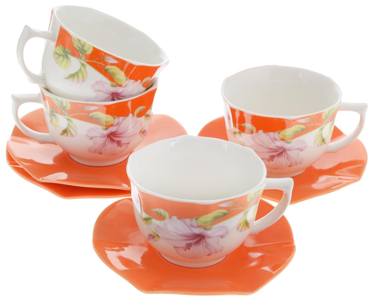 Набор чайный Loraine Цветы, 8 предметов. 2470724707Чайный набор Loraine Цветы состоит из 4 чашек и4 блюдец.Изделия выполнены из высококачественнойкерамики.Такой набор дополнит сервировку стола к чаепитию.Изящные цветочные изображения придают наборукрасивый внешний вид.Чайный набор изысканного утонченного дизайнаукрасит интерьеркухни. Прекрасно подойдет как дляторжественных случаев, так и для ежедневногоиспользования. Объем чашки: 230 мл.Диаметр чашки по верхнему краю: 9 см.Высота чашки: 6,5 см.Диаметр блюдца: 14 см. Высота блюдца: 1,7 см.