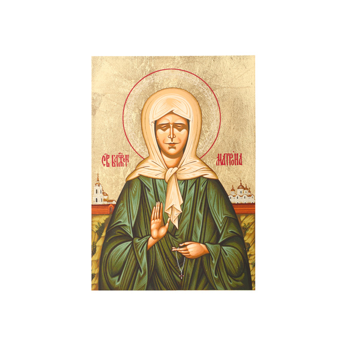 Икона Артола Святая Матрона, 9 см х 12,5 см х 2 см икона янтарная матрона московская кян 2 201