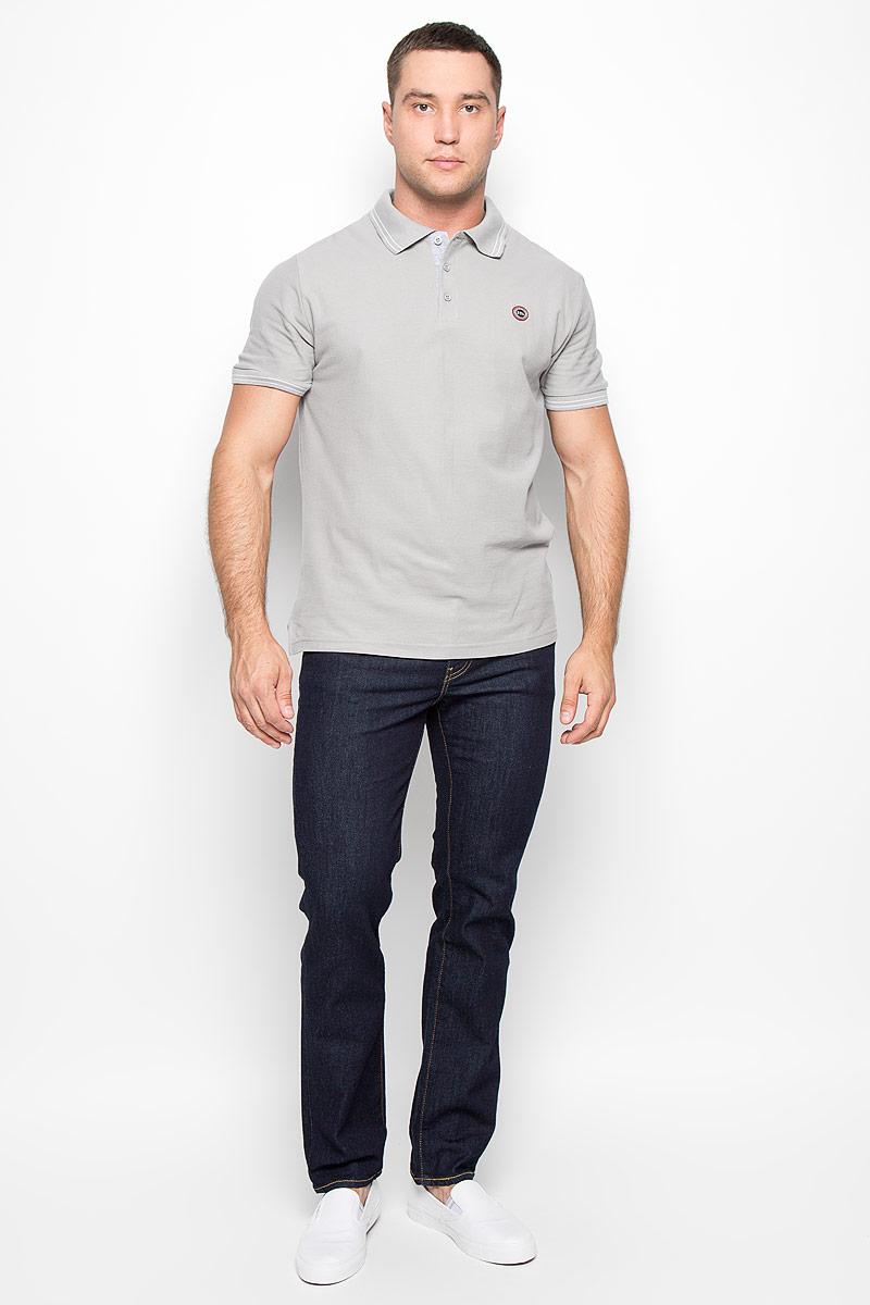 Поло мужское F5, цвет: серый. 160102_02336. Размер L (50)160102_02336Стильная мужская футболка-поло F5, выполненная из высококачественного хлопка, обладает высокой теплопроводностью, воздухопроницаемостью и гигроскопичностью, позволяет коже дышать.Модель с короткими рукавами и отложным воротником сверху застегивается на три пуговицы. На груди футболка оформлена небольшой брендовой нашивкой.Классический покрой, лаконичный дизайн, безукоризненное качество. В такой футболке вы будете чувствовать себя уверенно и комфортно.