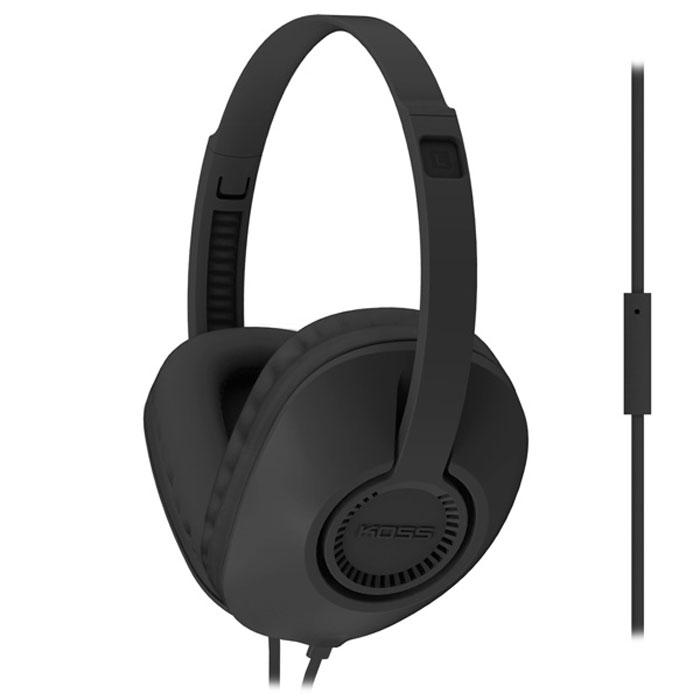 Koss UR23i, Black наушники2129918927Koss UR23i - полноразмерные наушники с функцией гарнитуры, выполненные в корпусе современного дизайна. Чаши D-образной формы с мягкими амбушюрами обеспечивают непередаваемый комфорт при длительном ношении. Наушники отличаются легким весом и высокой прочностью, а плоская форма кабеля исключает его заламывание и спутывание.