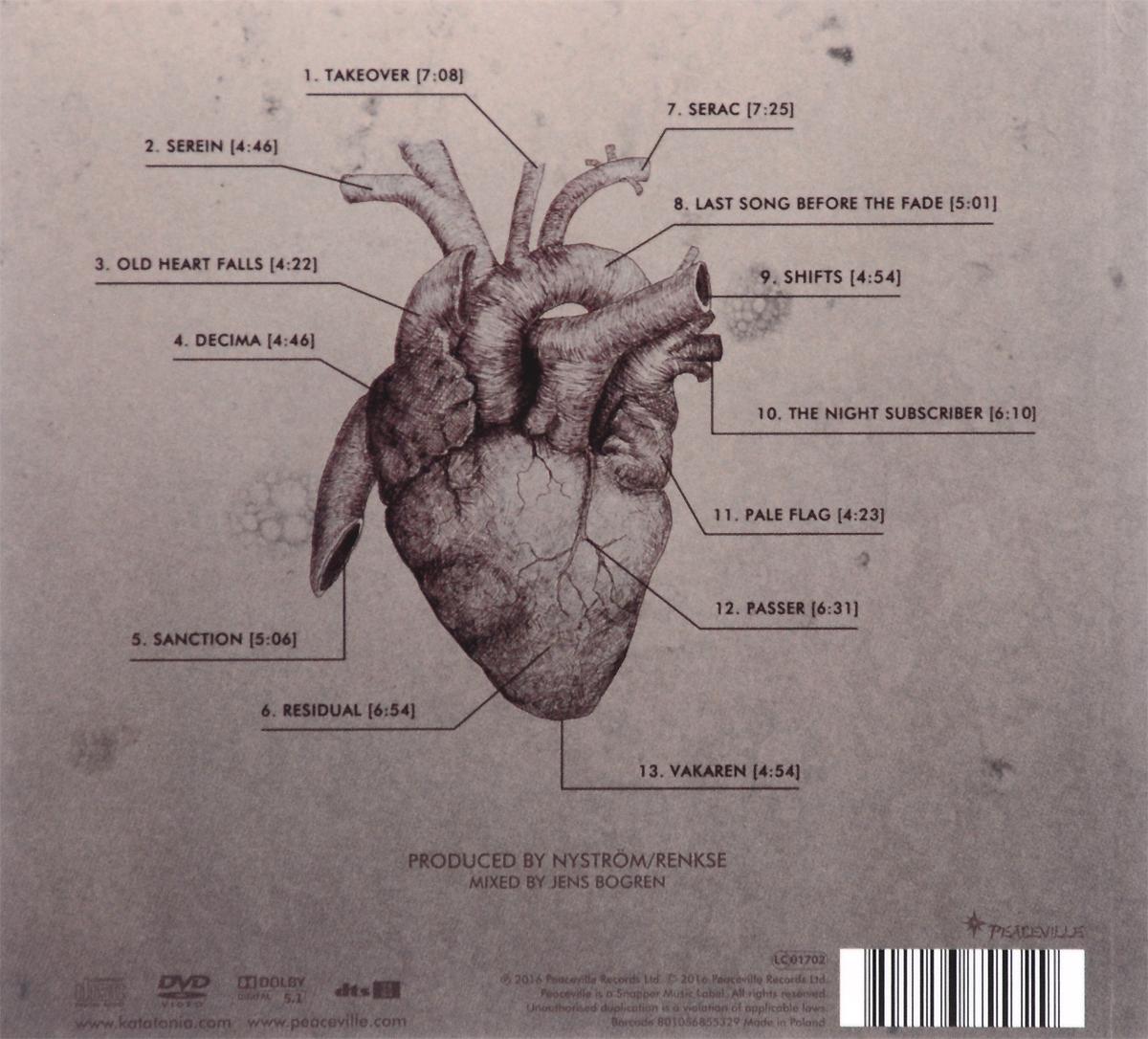 Katatonia.  The Fall Of Hearts (CD + DVD) Волтэкс-инвест,Peaceville Records
