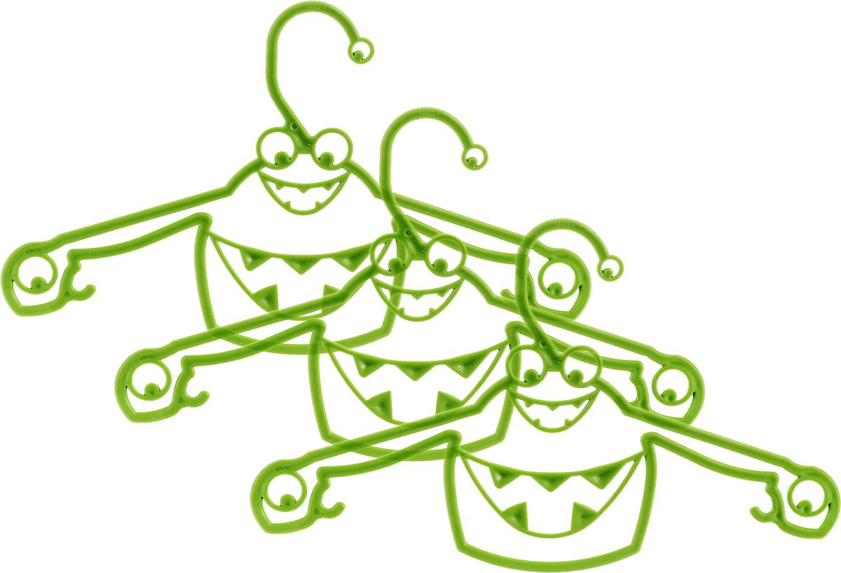 Набор вешалок Пластишка, с крючками, цвет: зеленый, 3 штС13024Набор Пластишка, изготовленный из прочного полипропилена, состоит из 3 детских вешалок для одежды с закругленными плечиками. Изделия оснащены крючками. Вешалка - это незаменимая вещь для того, чтобы ваша одежда всегда оставалась в хорошем состоянии.Комплектация: 3 шт.