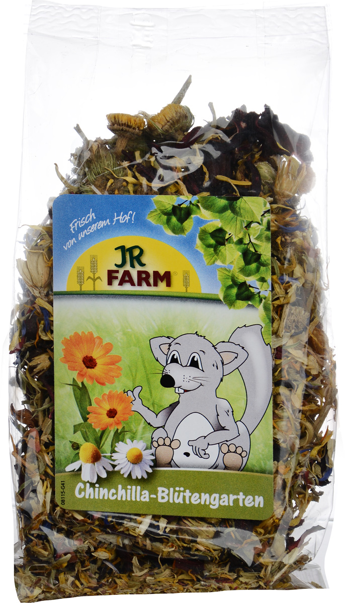 Лакомство для шиншилл JR Farm Цветочный сад, 50 г камень для шиншилл jr farm жевательный 50 г