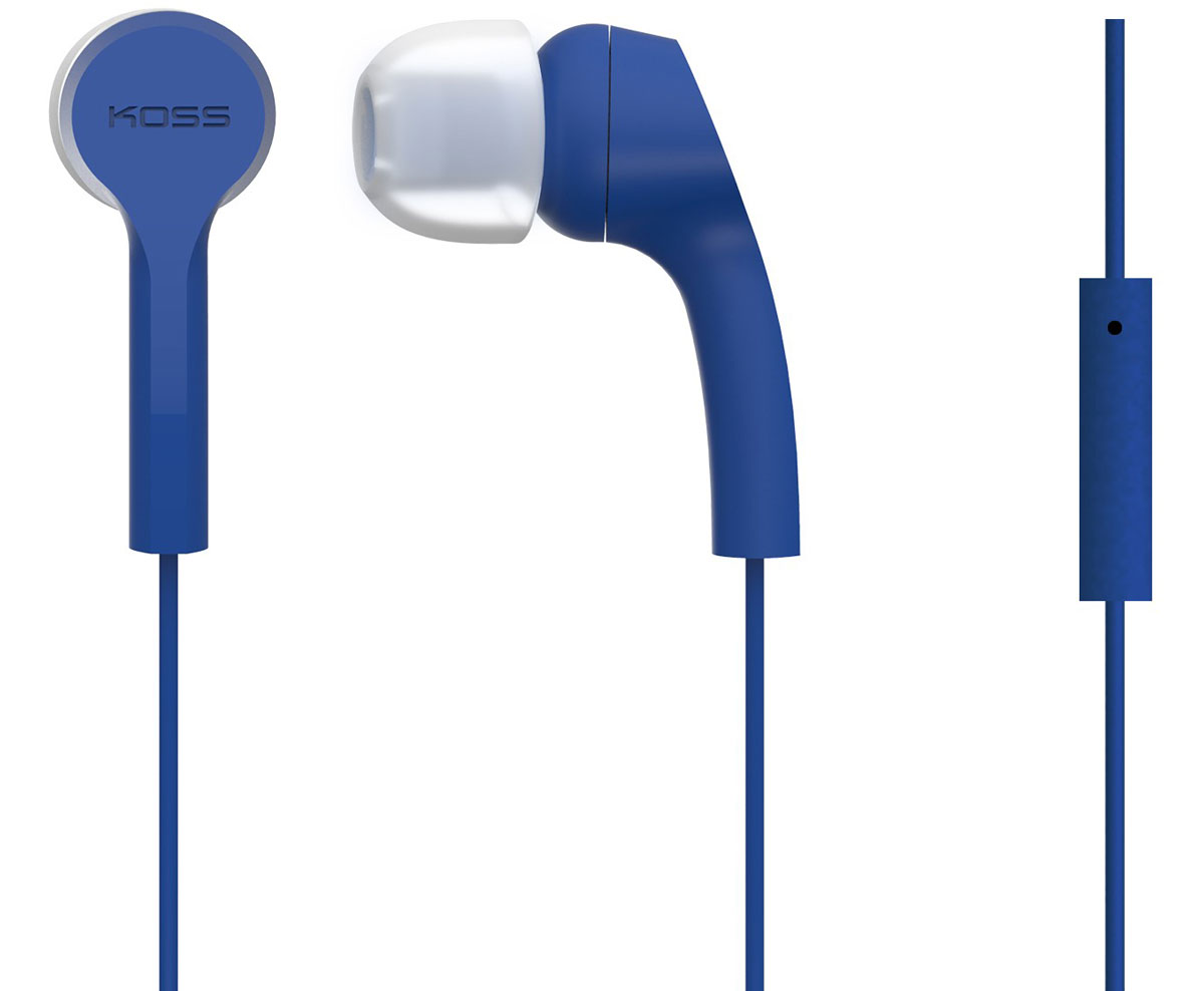 Koss KEB9i, Blue наушники15118050Koss KEB9i - это наушники вставного типа с функцией гарнитуры. Модель отличается комфортной посадкой и превосходной шумоизоляцией. Выберите свой вариант Koss KEB9i из пяти разных цветов!