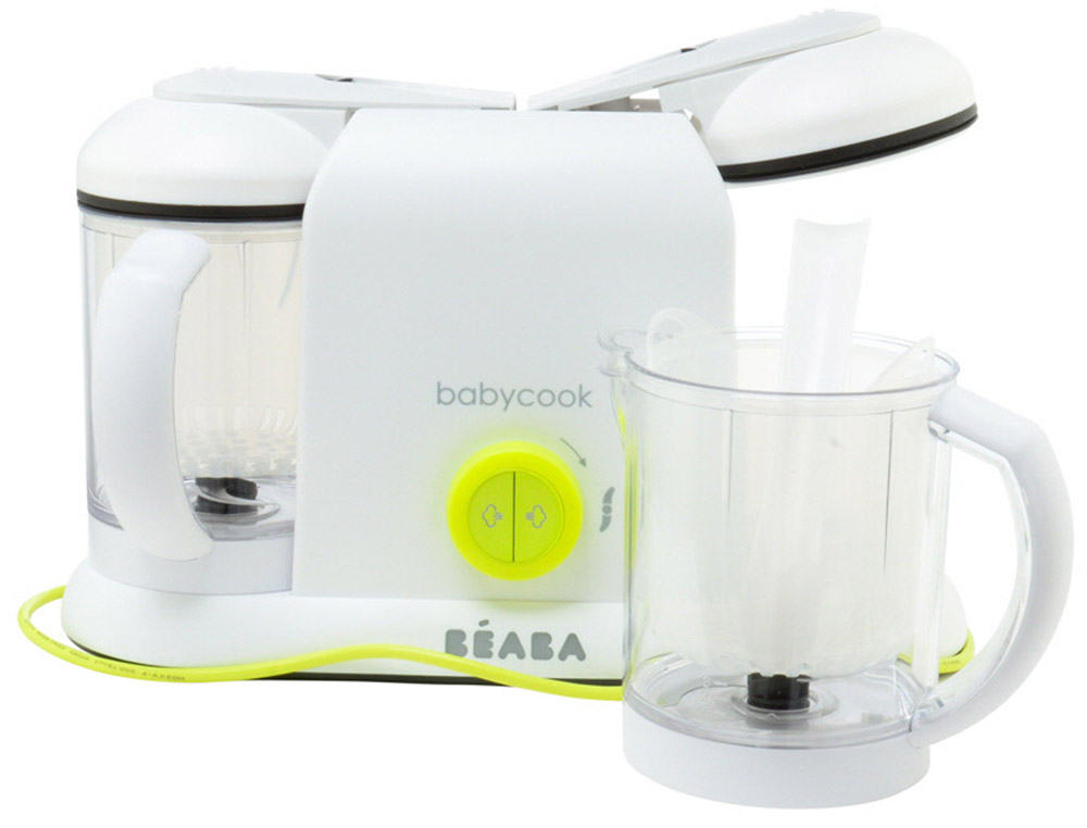 Beaba Блендер-пароварка Babycook Plus цвет белый салатовый блендер пароварка beaba babycook plus grey