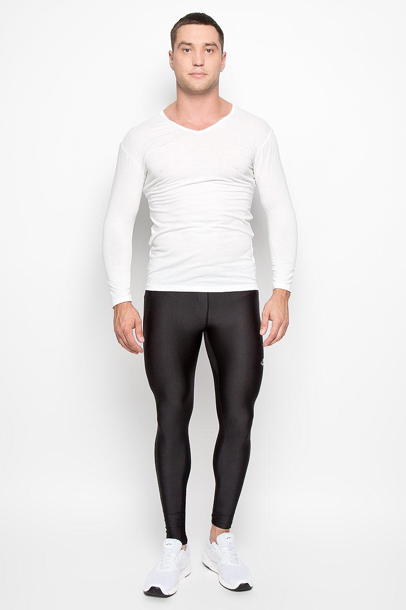 Лонгслив мужской Phiten, цвет: белый. JG085005. Размер L (50)JG08500Удобный мужской лонгслив Phiten великолепно подойдет для ношения под одеждой в холодную погоду. Он обладает высокой теплопроводностью, воздухопроницаемостью и гигроскопичностью и великолепно отводит влагу. Такой лонгслив превосходно подойдет для повседневной носки и активного отдыха. Содержание AquaTitan обеспечивает улучшение кровообращения, и расслабляет мышцы, что способствует дополнительному согревающему эффекту. Модель с длинными рукавами и V-образным вырезом горловины - идеальный вариант для прохладной и ненастной погоды. Инновационный материал позволяет термобелью Phiten отводить влагу и сохранять тепло при помощи тончайшего слоя воздуха, который сдержится в структуре ткани. Такая модель подарит вам комфорт в течение всего дня и послужит замечательным дополнением к вашему гардеробу.