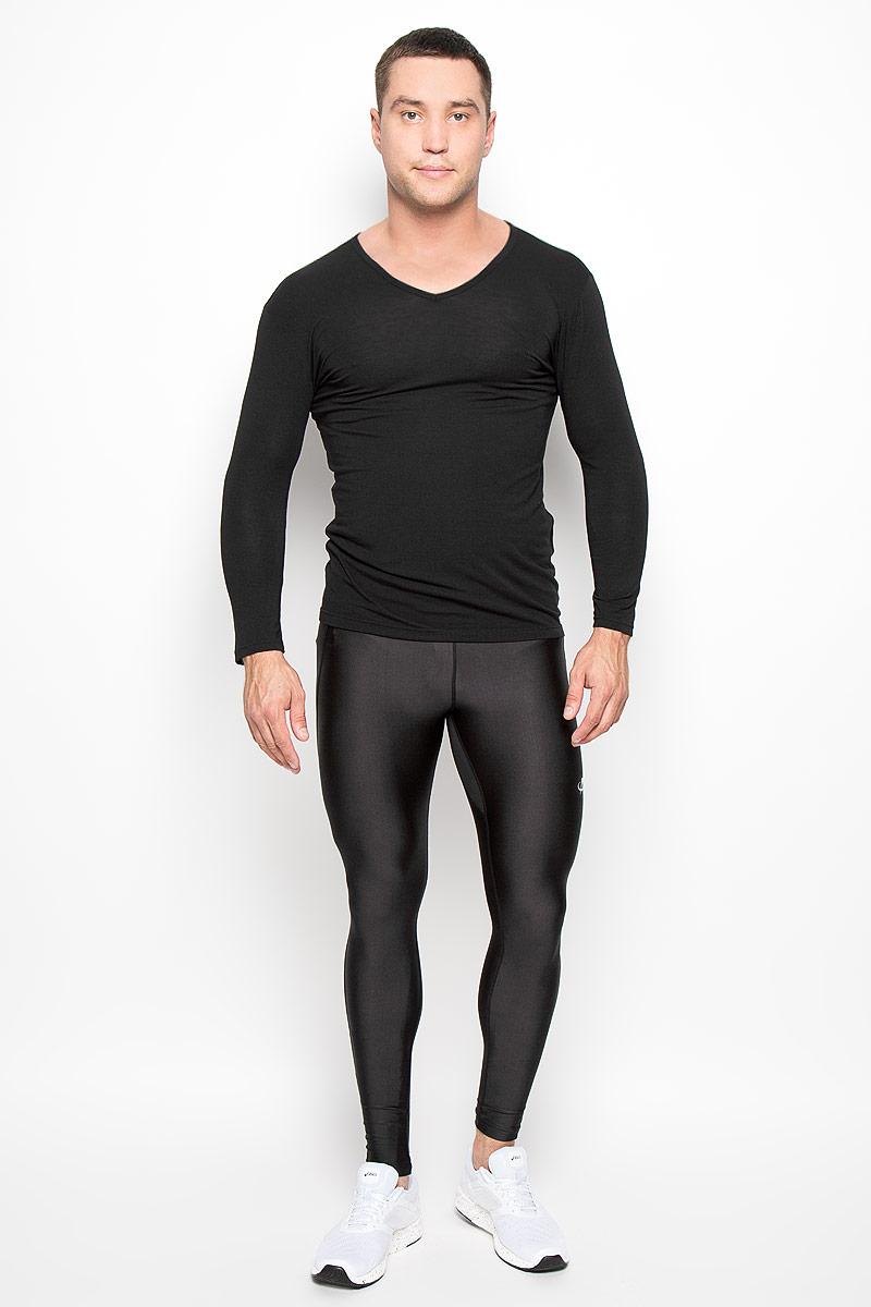 Лонгслив мужской Phiten, цвет: черный. JG085106. Размер XL (52)