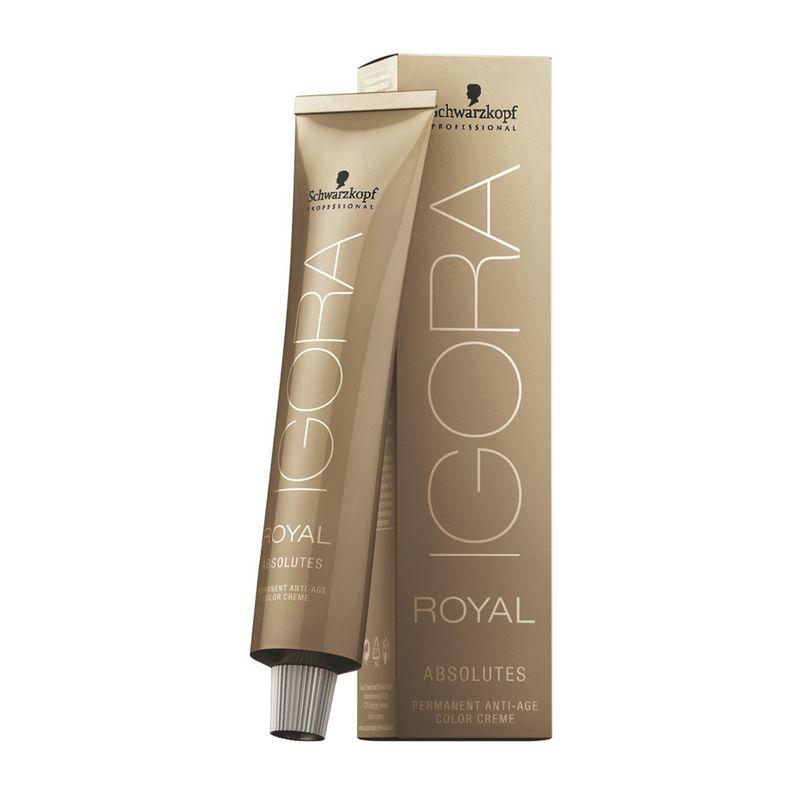 Igora Royal Перманентный краситель для волос Absolutes 6-05 темный русый абсолютный золотистый, 60 мл