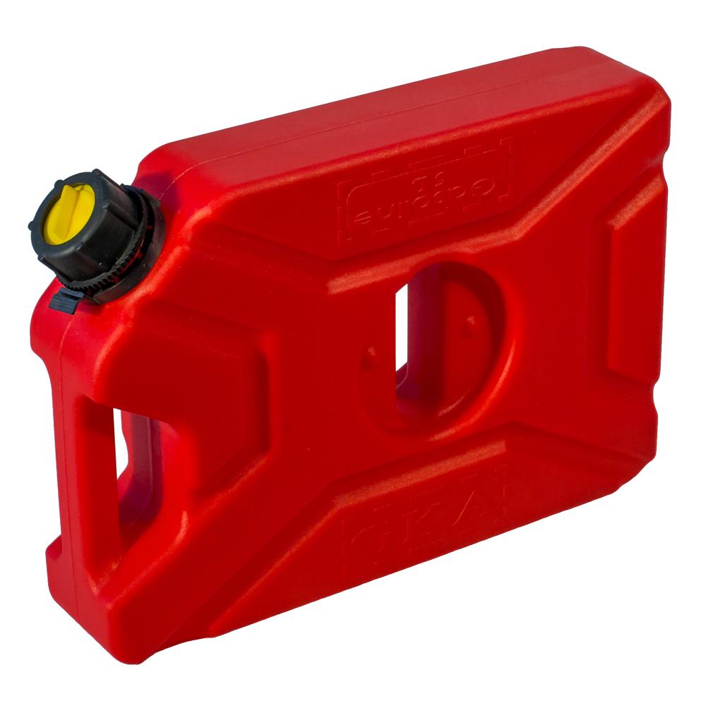 Канистра экспедиционная GKA, цвет: красный, 5 лGKA05RКанистра экспедиционная плоская 5 литров GKA. Изготавливаются из высокопрочных полимеров. Предназначена для любого вида топлива и воды.Укомплектованы гибким носиком для розлива жидкостей. Уплотнитель и антивибрационная система крышки не позволяет жидкости расплескиваться.