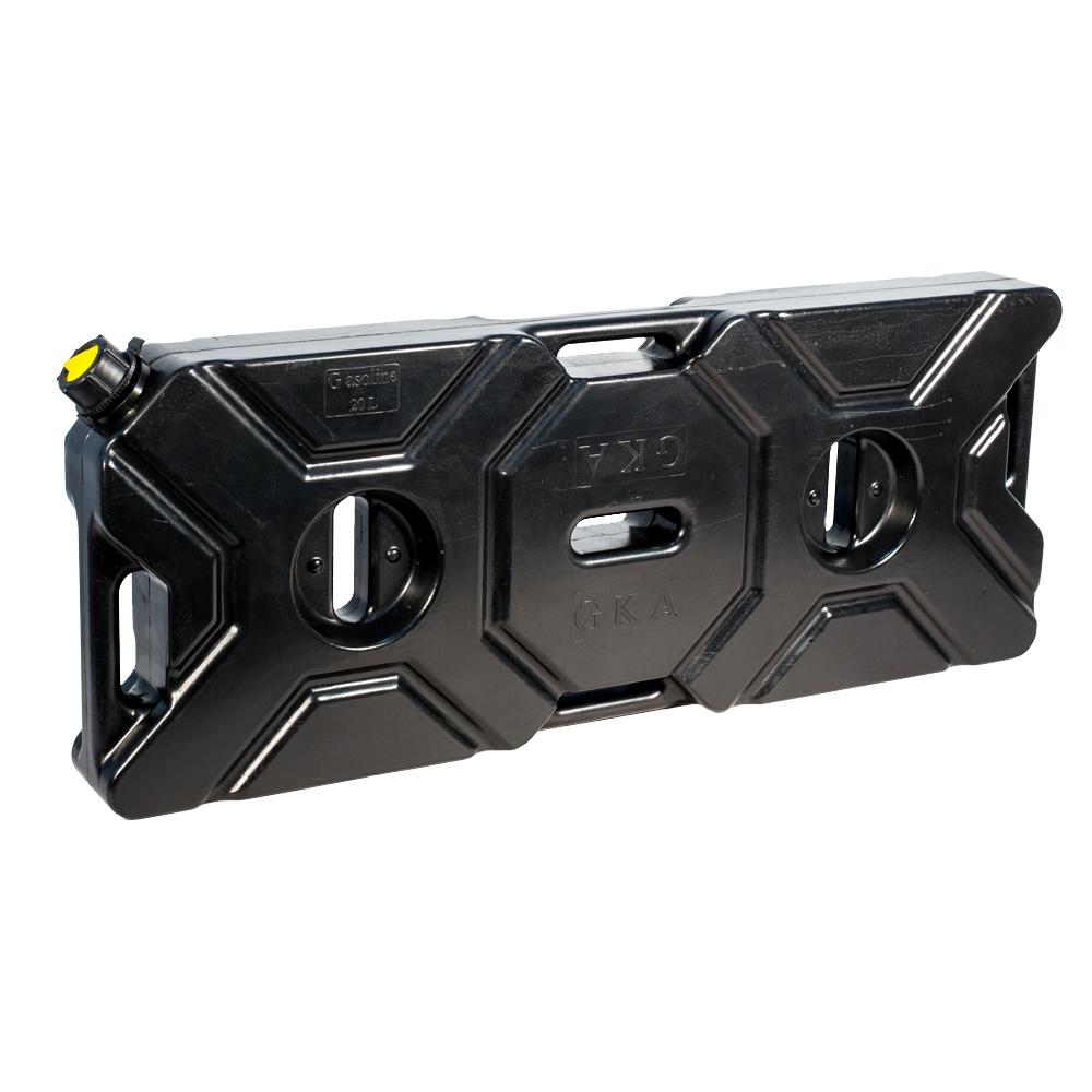 Канистра экспедиционная GKA, цвет: черный, 20 лGKA20BКанистра экспедиционная плоская 20 литров GKA. Изготавливаются из высокопрочных полимеров. Предназначена для любого вида топлива и воды.Укомплектованы гибким носиком для розлива жидкостей. Уплотнитель и антивибрационная система крышки не позволяет жидкости расплескиваться.