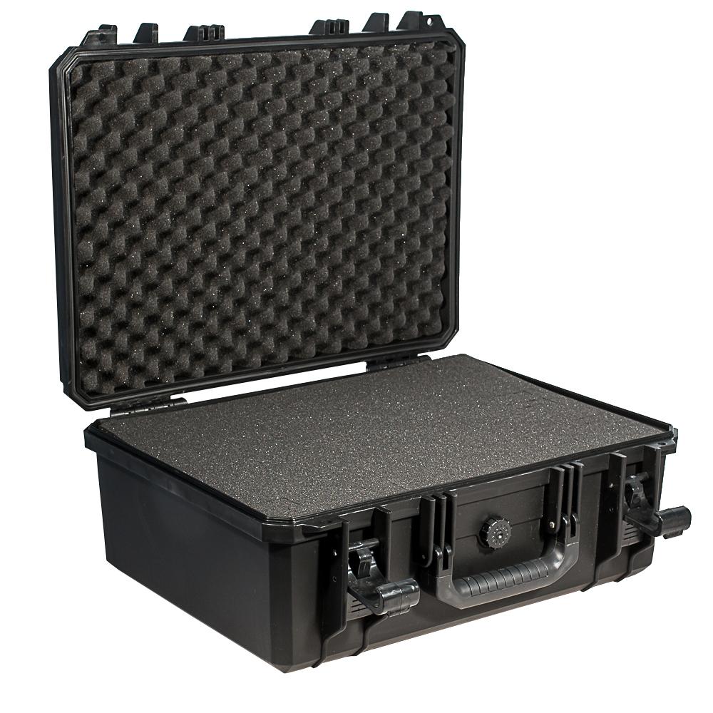 Кейс противоударный PRO-4x4 №4, влагозащищенный, 49 х 39,5 х 21,5 см, цвет: черныйPRO-BXF-B04939Кейс №4 с адаптивным поропластом может использоваться в энергетической отрасли и строительстве для перевозки высокоточных измерительных приборов, для хранения предметов искусства и коллекционирования.Защищенные кейсы - это надежный и проверенный способ сохранить в целостности дорогостоящее оборудование, требующее бережной транспортировки и гарантированной сохранности.
