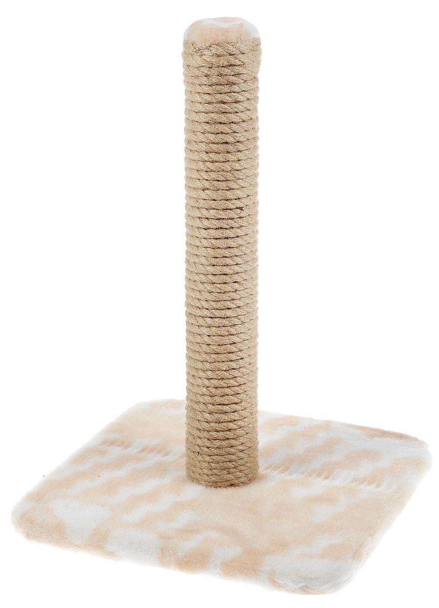 Когтеточка Меридиан, на подставке, цвет: белый, бежевый, высота 42 смК032_бежевый, полосыКогтеточка Меридиан поможет сохранить мебель и ковры в доме от когтей вашего любимца, стремящегося удовлетворить свою естественную потребность точить когти. Когтеточка изготовлена из дерева, искусственного меха и джута. Товар продуман в мельчайших деталях и, несомненно, понравится вашей кошке.Всем кошкам необходимо стачивать когти. Когтеточка - один из самых необходимых аксессуаров для кошки. Для приучения к когтеточке можно натереть ее сухой валерьянкой или кошачьей мятой. Когтеточка поможет вашему любимцу стачивать когти и при этом не портить вашу мебель.Размер основания: 30 х 30 см.Высота когтеточки: 42 см.