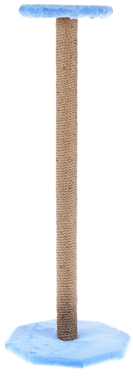 Когтеточка ЗооМарк, с полкой, цвет: голубой, бежевый, высота 102 см101-2_голубойКогтеточка ЗооМарк поможет сохранить мебель и ковры в доме от когтей вашего любимца, стремящегося удовлетворить свою естественную потребность точить когти. Когтеточка изготовлена из дерева, искусственного меха и джута. Товар продуман в мельчайших деталях и, несомненно, понравится вашей кошке. Сверху имеется полка.Всем кошкам необходимо стачивать когти. Когтеточка - один из самых необходимых аксессуаров для кошки. Для приучения к когтеточке можно натереть ее сухой валерьянкой или кошачьей мятой. Когтеточка поможет вашему любимцу стачивать когти и при этом не портить вашу мебель.Размер основания: 35 х 35 см.Высота когтеточки: 102 см.Размер полки: 26 х 26 см.