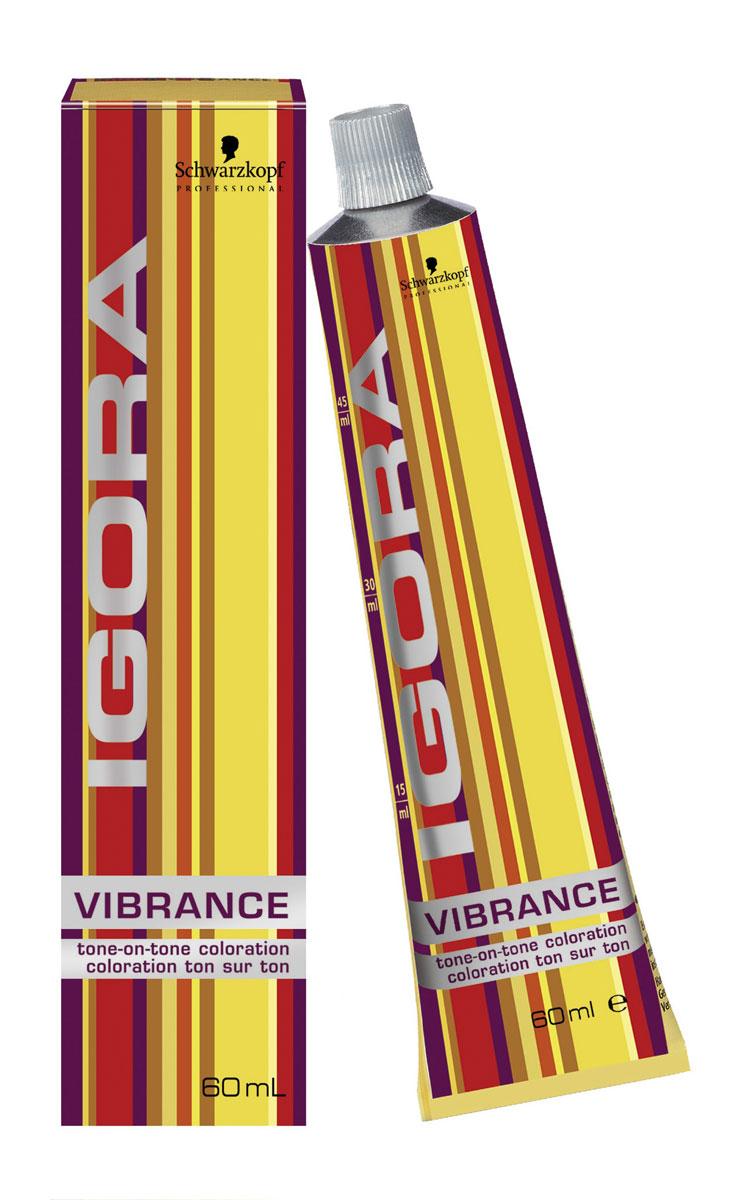 Igora Vibrance Перманентный краситель для волос 9,5-5 светлый блондин золотистый 60 мл706328Крем-краситель без аммиака для окрашивания тон-в-тон. Цвет: светлый блондин золотистый.