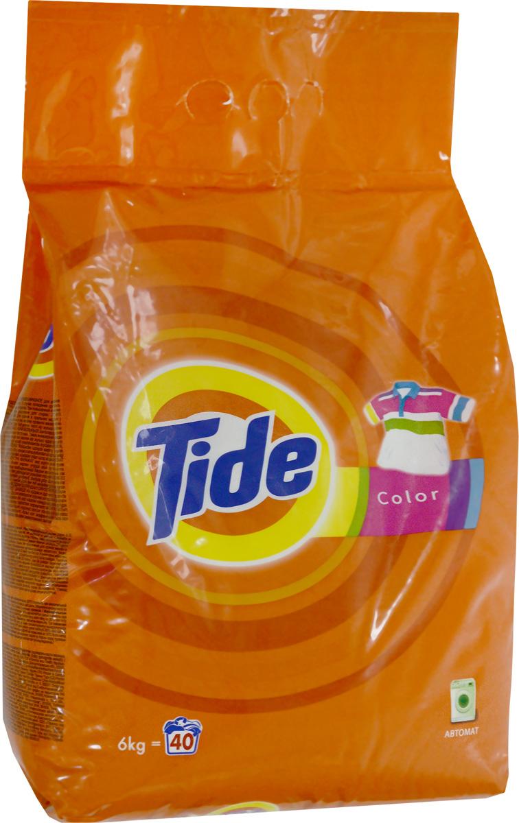Стиральный порошок Tide Color, автомат, 6 кг стиральный порошок topperr 3205 active