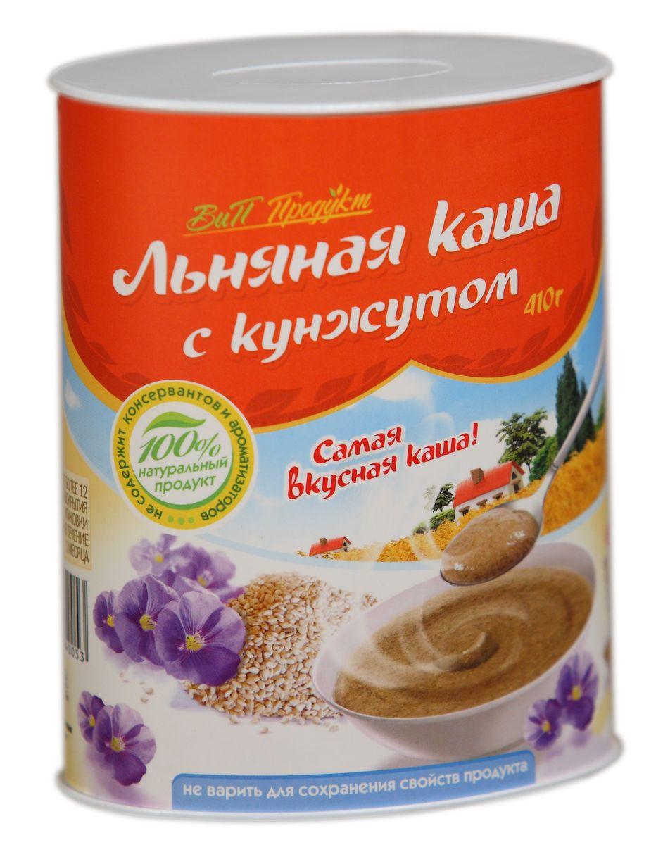 Вип Продукт Льняная каша с кунжутом, 410 г1ПВВ2300003/12Льняная каша с кунжутом ВиП Продукт не содержит соли и сахара. Её можно заливать горячей или холодной водой, либо молоком, взбивая до получения однородной массы, и доводить до желаемого вкуса добавлением сухофруктов, меда, варенья, сгущенного молока, соли, сахара. Льняную кашу можно добавлять к супам-пюре, домашним выпечкам, соусам, любым овощным и фруктовым салатам, а также в другие уже готовые каши. Добавляя льняную кашу в состав любого блюда на вашем столе, вы повысите его пищевую ценность, обогатите витаминами и микроэлементами, сбалансируете его аминокислотный состав.Льняная каша с кунжутом ВиП Продукт сочетает в себе пользу семян льна и кунжута, который издавна в Китае и на Востоке ассоциировался с бессмертием. В кунжуте много белка, витаминов Е, группы B, A и C, кальция, магния, цинка, фосфора, железа, клетчатки, фитостерина, сезамина, сезамолина, глицеридов олеиновой, линолевой, пальмитиновой, стеариновой, арахиновой и лигноцериновой кислот. Большинство из этих кислот самостоятельно не вырабатываются, и мы должны регулярно получать их из пищи.