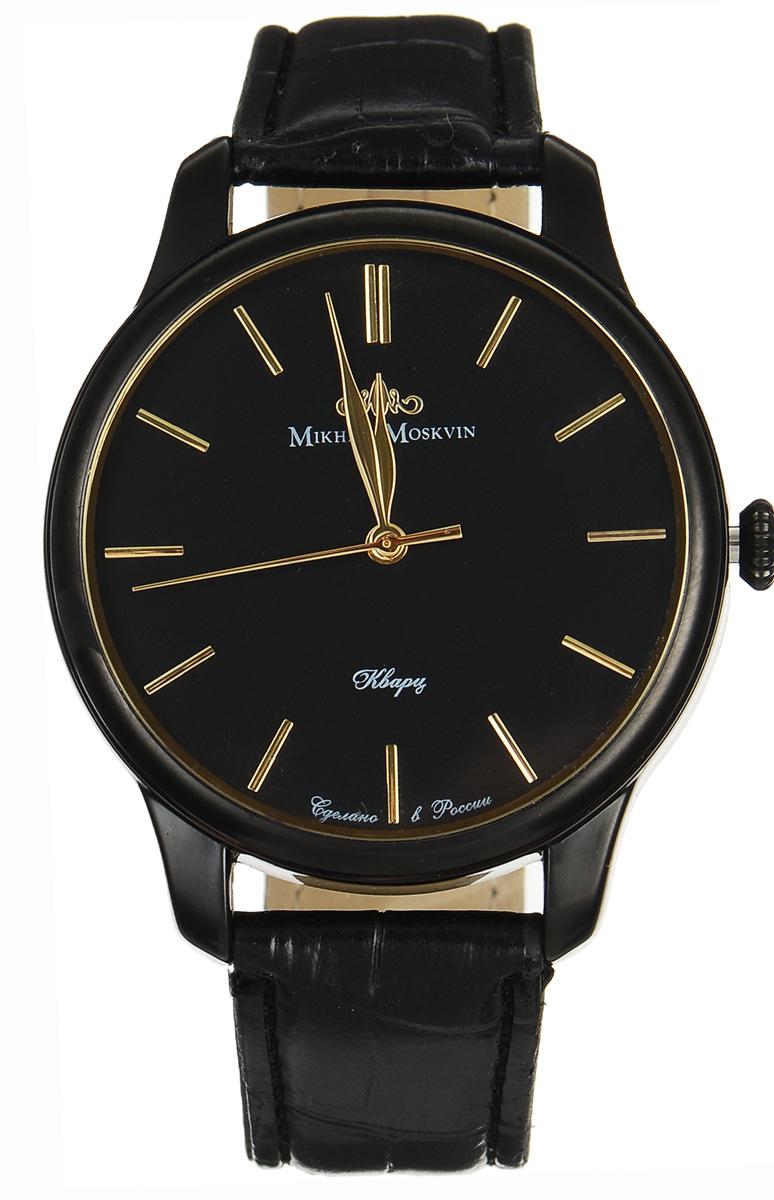 Часы наручные мужские Mikhail Moskvin, цвет: черный. 1200A11L5
