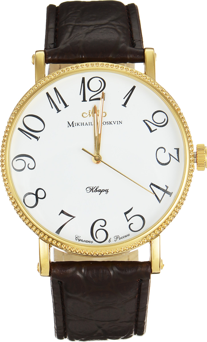 Часы наручные мужские Mikhail Moskvin, цвет: золотой, коричневый. 1128A2L2