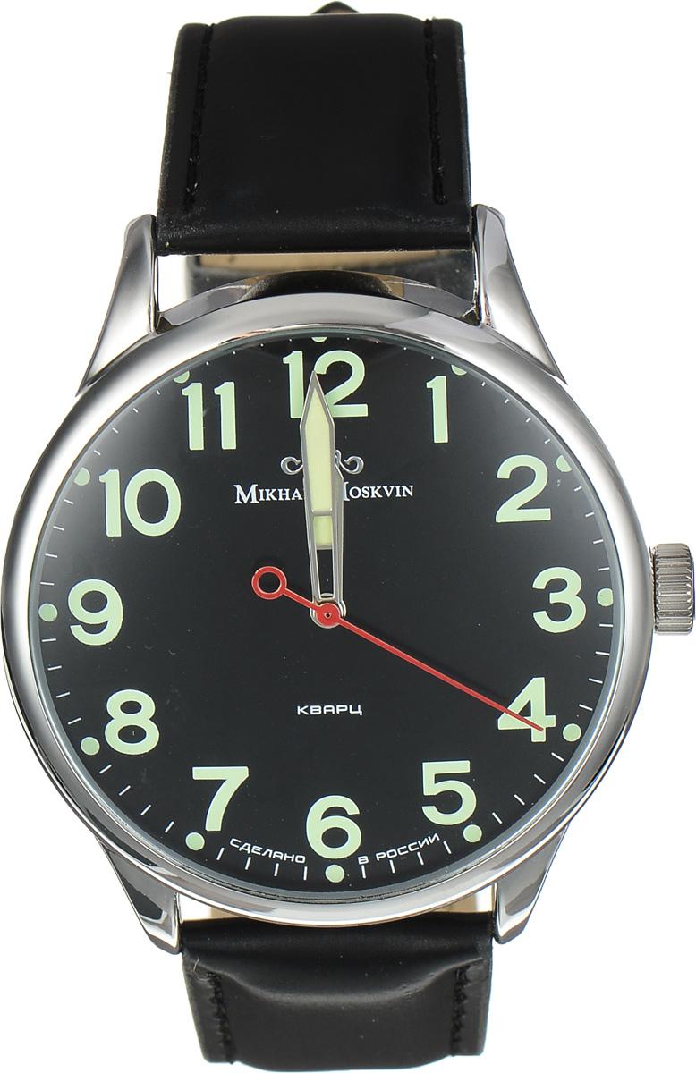Часы наручные мужские Mikhail Moskvin, цвет: черный, серебристый. 1204A1L2