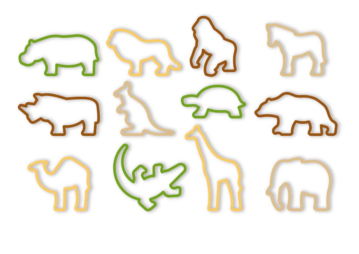 Формочки Tescoma Delicia Kids. Zoo, 12 шт630930Формочки Tescoma Delicia Kids. Zoo отлично подходят для быстрогоприготовления печенья различных форм. Сделаны из первоклассной прочнойпластмассы.