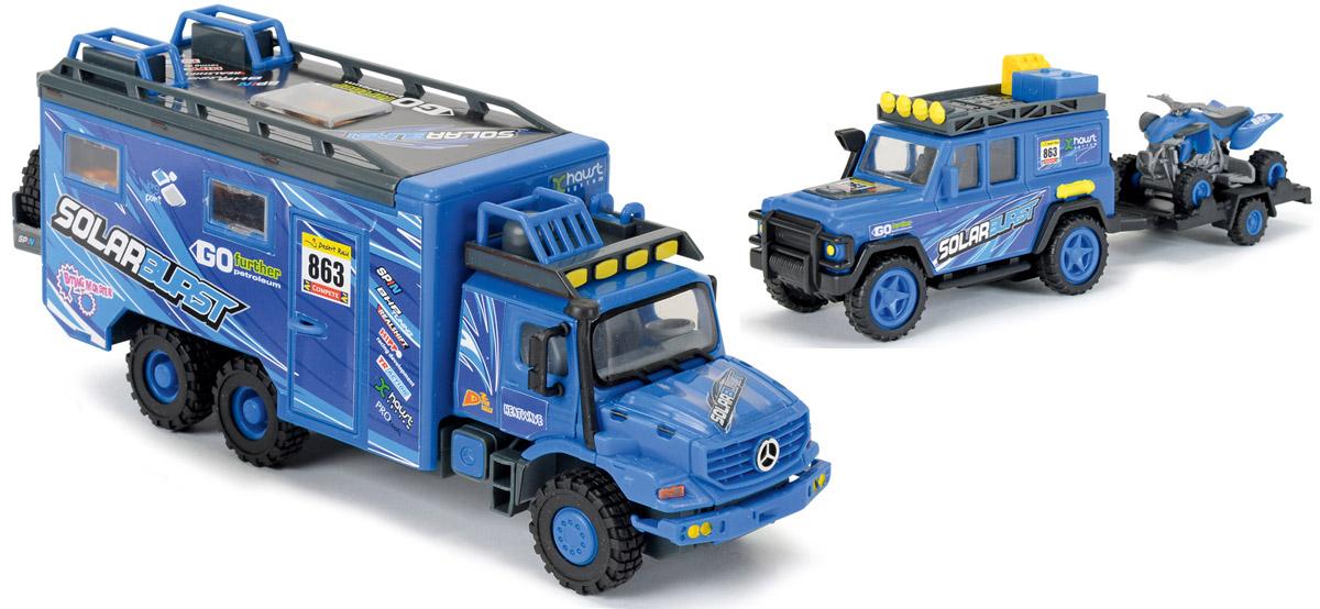 Dickie Toys Набор машинок Исследовательские автомобили цвет синий 3 шт автотрек dickie simba 3083077 спайдер мэн