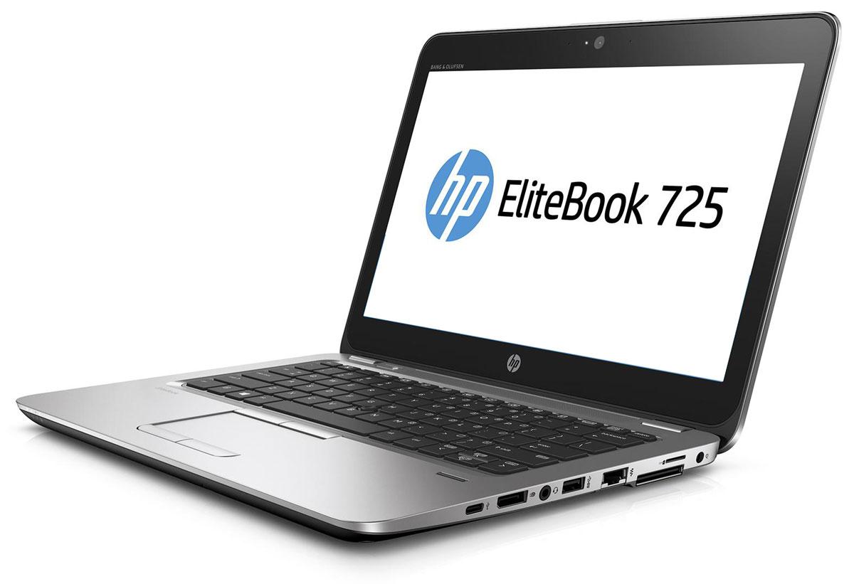 HP EliteBook 725 G3, Silver Black Metal (P4T48EA)P4T48EAОткройте для себя возможности тонкого, легкого и недорогого ноутбука HP EliteBook 725. Его мощные средства для совместной работы и связи помогут в решении важных задач и обеспечат развитие бизнеса. Идеальное решение для мобильной работы, которое обеспечивает максимальную надежность, высокую производительность и мощные средства работы с графикой в управляемых ИТ-средах по сравнению с другими устройствами своего класса. Ультратонкий корпус ноутбука оснащен всеми необходимыми разъемами, благодаря чему вам больше не понадобятся дополнительные переходники. Используйте передовую технологию автоматического восстановления BIOS, HP Sure Start, для защиты устройства от атак. Используйте средства управления HP Touchpoint Manage и DASH для мониторинга работы ноутбука.Забудьте о стационарных телефонах: ноутбук HP EliteBook 725 с аудиосистемой Bang & Olufsen обеспечивает высокое качество звука для таких приложений, как Skype для бизнеса.Служба HP Sure Start обнаруживает атаки на систему BIOS и в случае ее повреждения выполняет автоматическое восстановление.Изображение на экране словно оживает благодаря технологии AMD Vivid Color, которая обеспечивает яркие и насыщенные цвета.Ноутбук поставляется с предустановленной ОС Windows 7 Профессиональная, а также с лицензией и носителями для ОС Windows 10 Профессиональная. Одновременно можно использовать только одну версию операционной системы Windows. Чтобы использовать другую версию, необходимо удалить текущую версию и установить новую. Перед удалением и установкой операционной системы сохраните все нужные вам данные (файлы, фотографии и т. д.).Точные характеристики зависят от модификации.Ноутбук сертифицирован EAC и имеет русифицированную клавиатуру и Руководство пользователя.