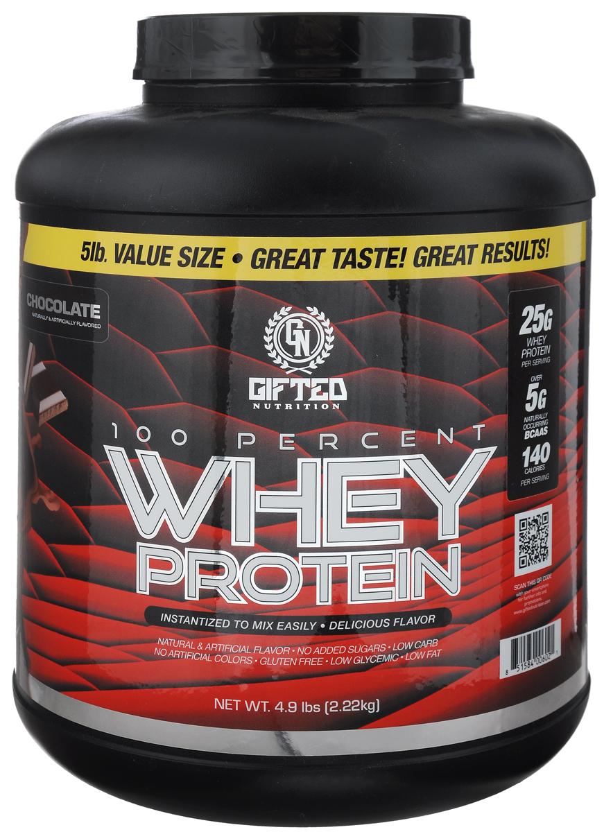 Протеин Gifted Nutrition 100% Whey Protein, шоколад, 2,22 кг сывороточный протеин mychoice nutrition my whey pro печенье 825 г