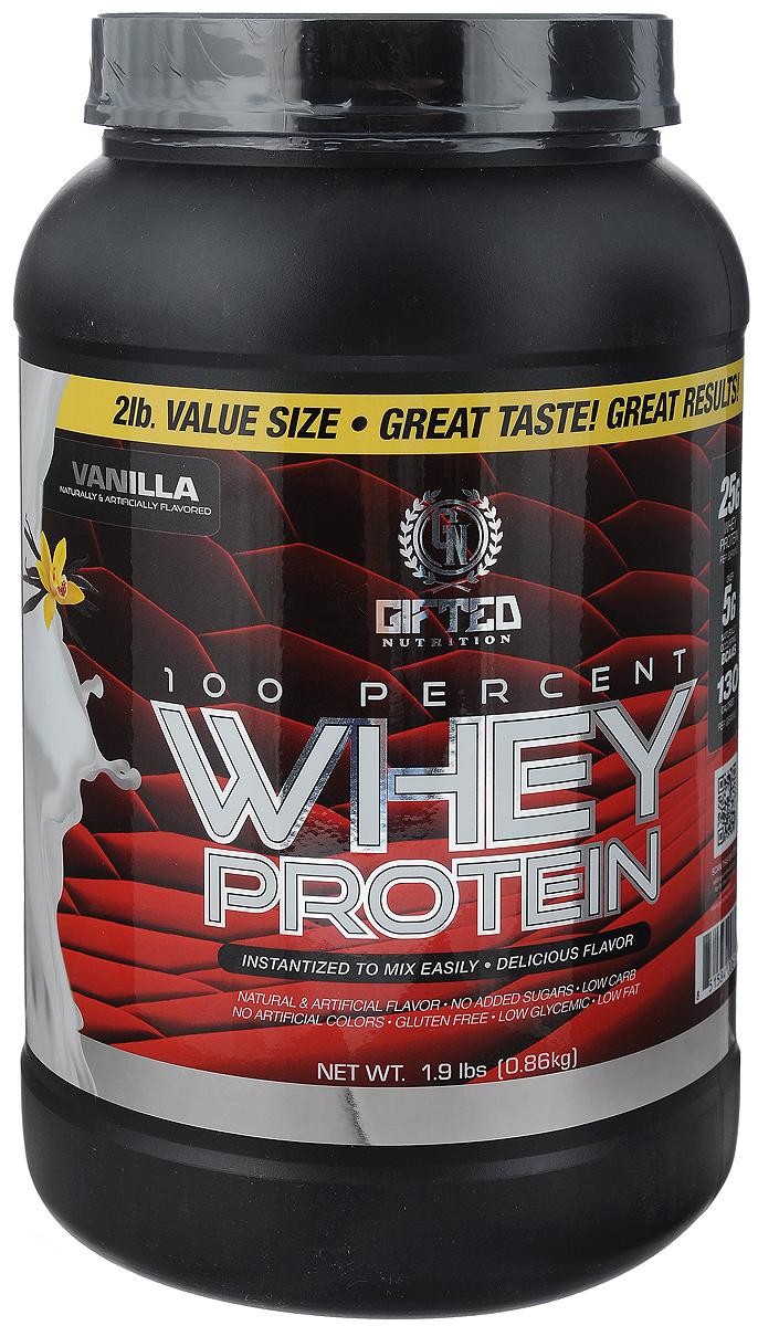 Протеин Gifted Nutrition 100% Whey Protein, ваниль, 860 г сывороточный протеин mychoice nutrition my whey pro печенье 825 г