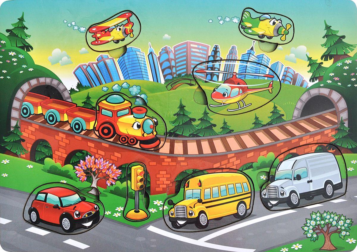 Фабрика Мастер игрушек Рамка-вкладыш Транспорт фабрика мастер игрушек рамка вкладыш водоем