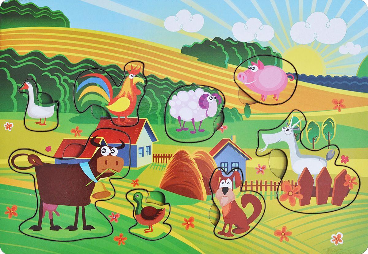 Фабрика Мастер игрушек Рамка-вкладыш Веселая ферма фабрика мастер игрушек пазл для малышей принцесса