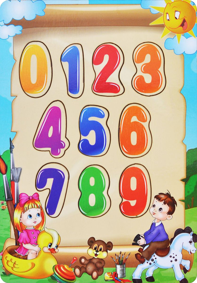 Фабрика Мастер игрушек Рамка-вкладыш Учим цифры мастер игрушек сладкие цифры