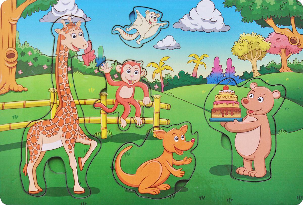 Фабрика Мастер игрушек Рамка-вкладыш День рождения в лесу, Тимбергрупп