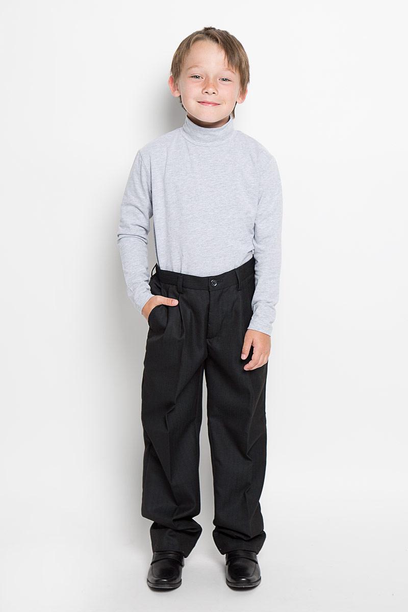 Брюки для мальчика Imperator, цвет: черный. 27093. Размер 42/164, 15-16 лет брюки для мальчика imperator цвет темно коричневый 26303 размер 42 164 15 16 лет