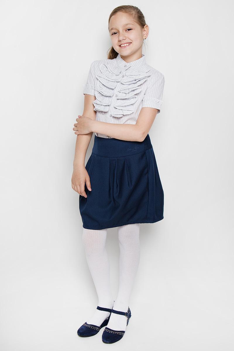 Блузка для девочки Nota Bene, цвет: белый, серый. AW15GS253B-20. Размер 164 платье tutto bene tutto bene tu009ewzwn18