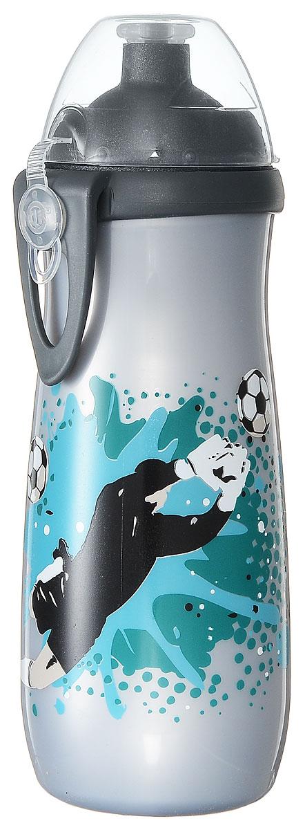 NUK Бутылочка-поильник Sports Cup с силиконовой насадкой от 36 месяцев цвет серый 450 мл