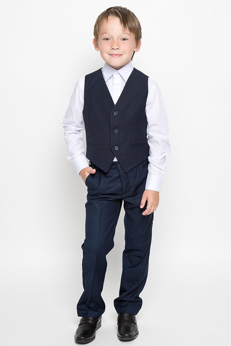 Жилет для мальчика Gulliver, цвет: темно-синий. 21501BSC4703. Размер 158 джинсы для мальчика gulliver цвет синий 21607bkc6301 размер 134 9 лет