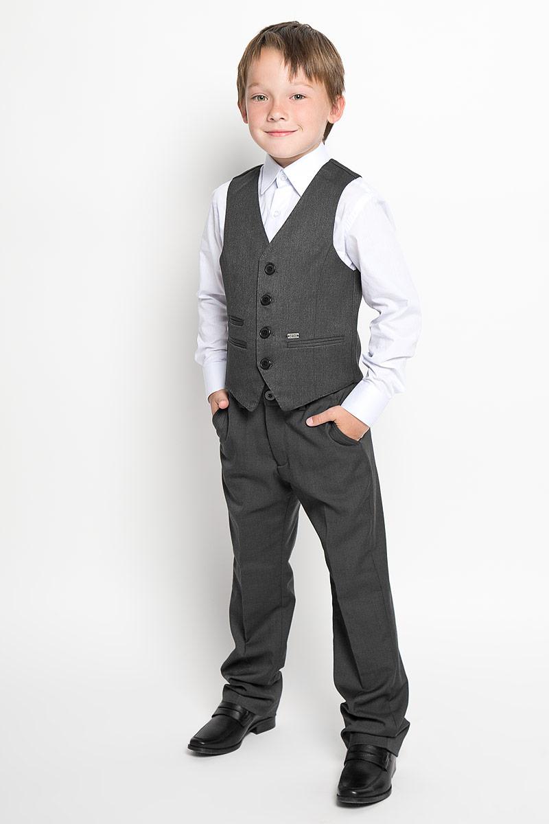 Жилет для мальчика Nota Bene, цвет: темно-серый. AW15BS364B-51. Размер 164