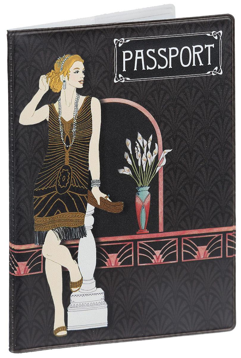 Обложка для паспорта Magic Home Арт-Деко, цвет: темно-коричневый. 41574 карнавальные костюмы magic home новогодний костюм