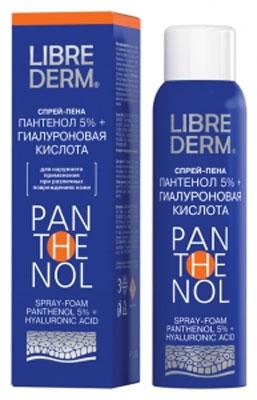 Librederm Спрей Пантенол 5%, с гиалуроновой кислотой, 130 г пантенол [panthenol 5