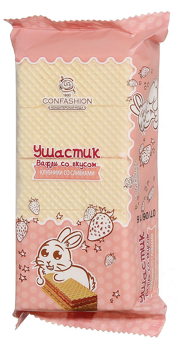 Конфэшн Ушастик вафли клубника со сливками, 125 г вафли обожайка со вкусом томленого молока 225 г