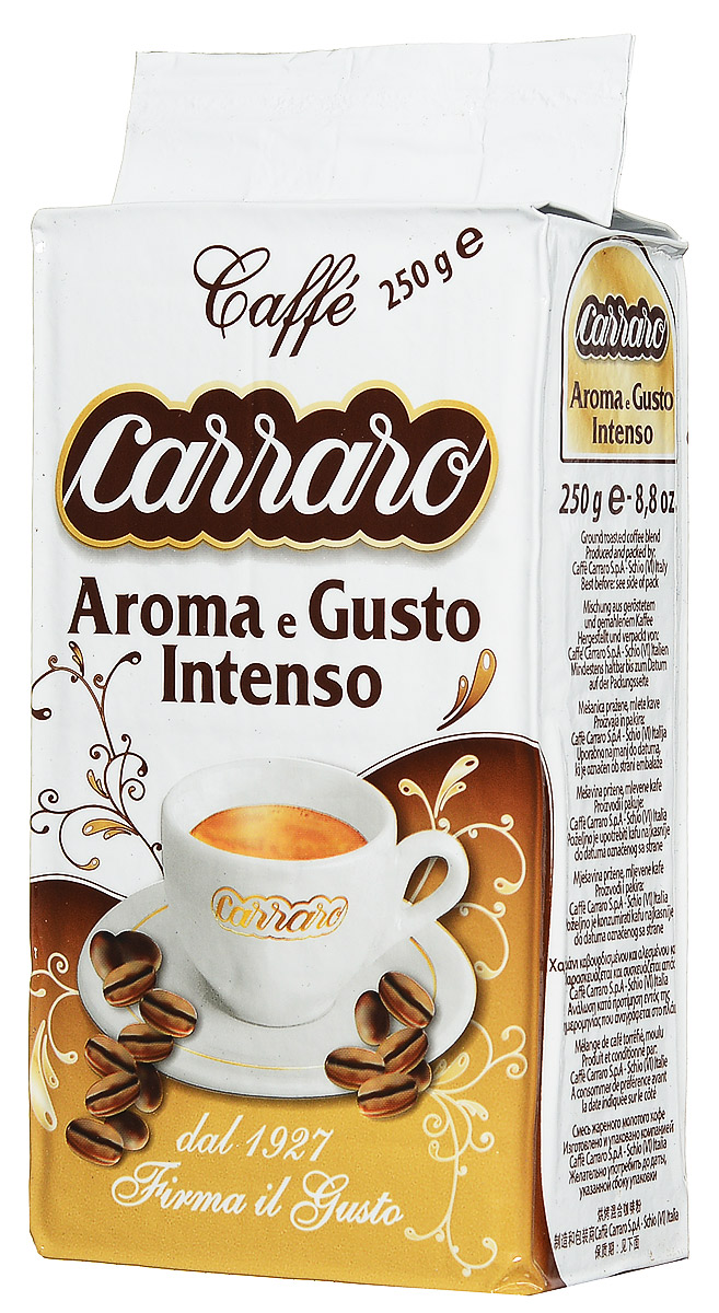 Carraro Aroma e Gusto кофе молотый, 250 г кофе молотый carraro colombia 250 гр в у