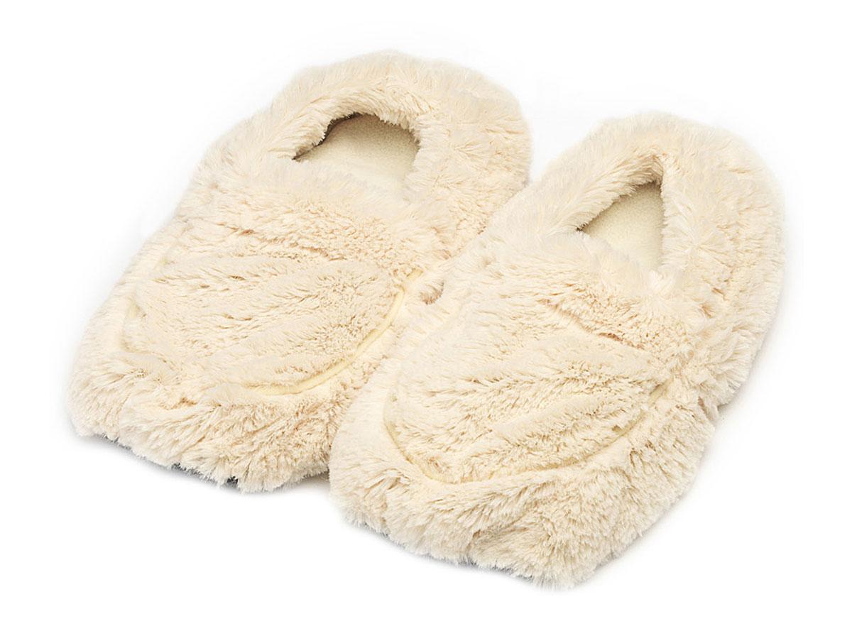 Warmies Тапки-грелки цвет кремовый размер 35/40 warmies тапочки грелки бежевые 35 40