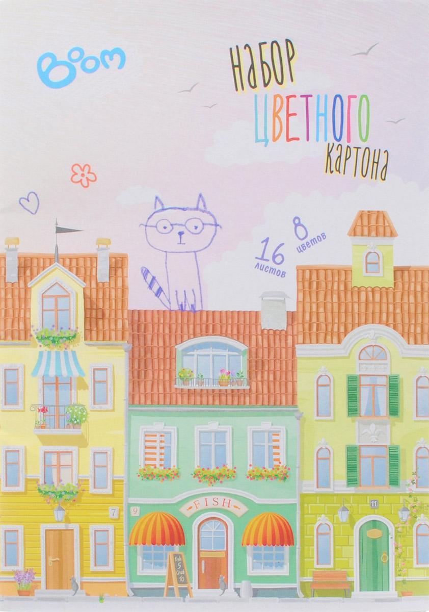 Boom Цветной картон Studio 8 цветов 16 листовBS-CCS12/04Набор цветного картона Studio позволит создавать всевозможные аппликации и поделки. Набор упакован в картонную папку с изображением цветных домиков на голубом фоне. Набор включает 16 листов одностороннего цветного картона формата А4. Цвета: желтый, красный, пурпурный, зеленый, синий, белый, оранжевый, черный.Создание поделок из цветного картона позволяет ребенку развивать творческие способности, кроме того, это увлекательный досуг.