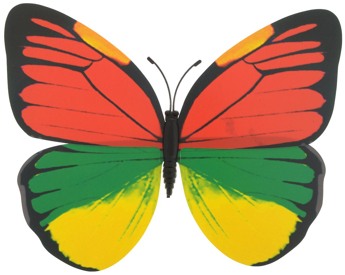 Декоративное украшение Village people Тропическая бабочка, с магнитом, цвет: красный, зеленый, желтый (15), 12 х 8 см68610_15Декоративная фигурка Village People Тропическая бабочка, изготовленная из ПВХ и магнита, это не только красивое украшение, но и замечательный способ отпугнуть птиц с грядок. Изделие выполнено в виде бабочки и оснащено магнитом, с помощью которого вы сможете поместить изделие в любом удобном для вас месте. Яркий дизайн изделия оживит ландшафтсада.