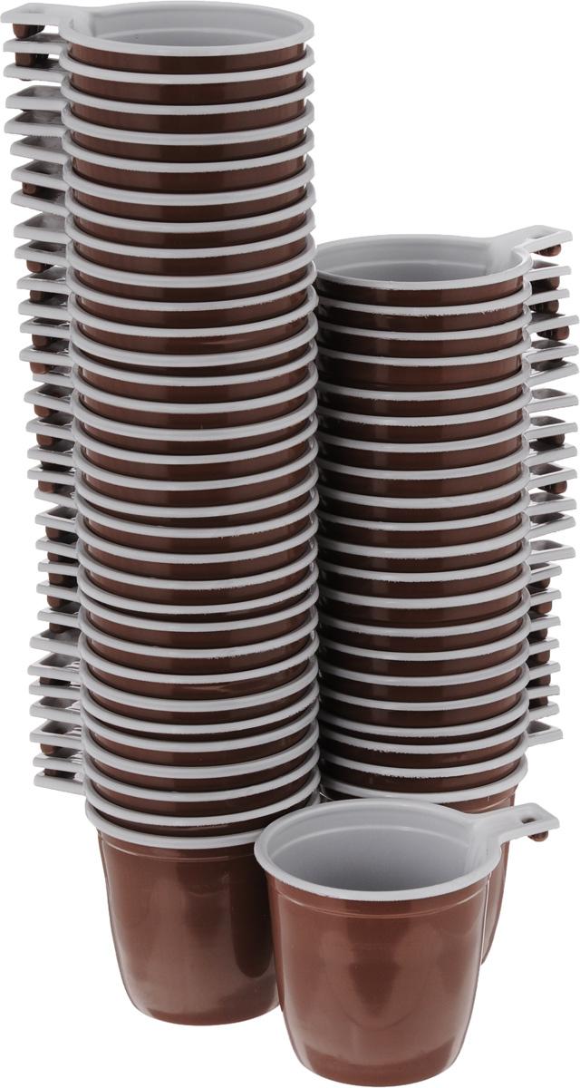 Набор одноразовых кофейных чашек МОПС, 200 мл, 50 штукПОС08067Набор МОПС состоит из 100 круглых кофейных чашек, выполненных из пищевого пластика и предназначенных для одноразового использования. Изделия оснащены ручками для более удобного использования.Одноразовые чашки будут незаменимы при поездках на природу, пикниках и других мероприятиях. Они не займут много места, легки и самое главное - после использования их не надо мыть.Диаметр (по верхнему краю):7,5 см.Ширина с учетом ручки: 10 см.Высота: 7 см.Объем: 200 мл.