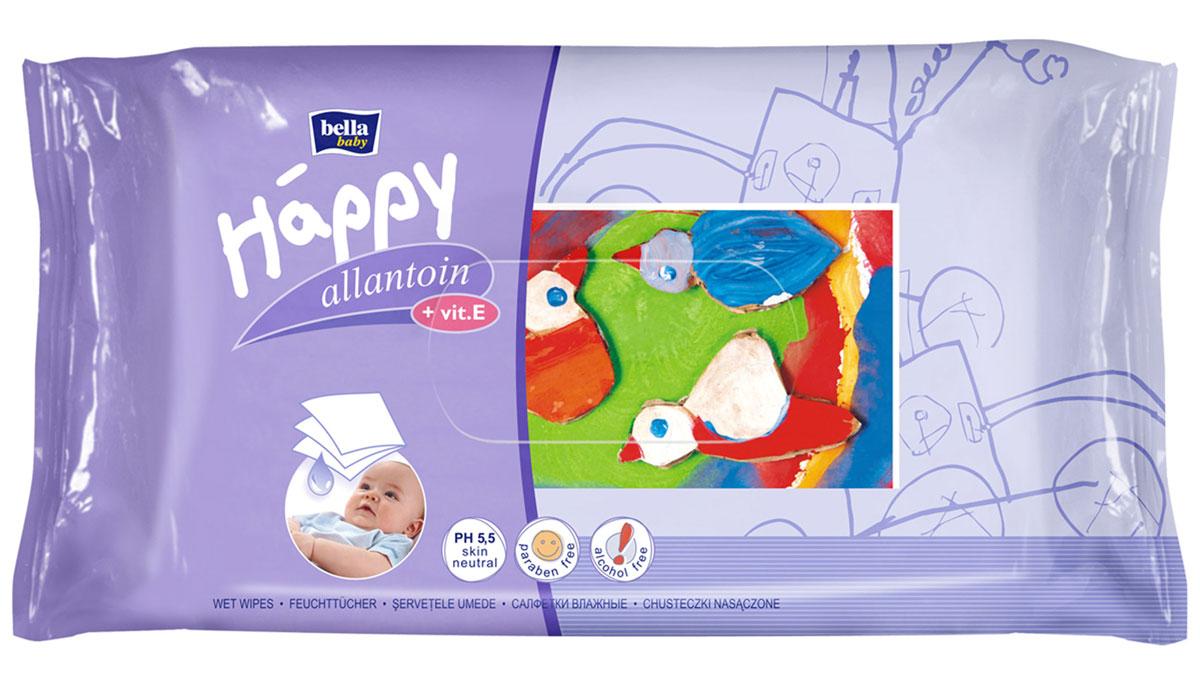 Bella baby Happy Влажные салфетки детские Delicate Lotion c витамином E 64 шт bella влажные салфетки baby happy молоко и мед 64 шт