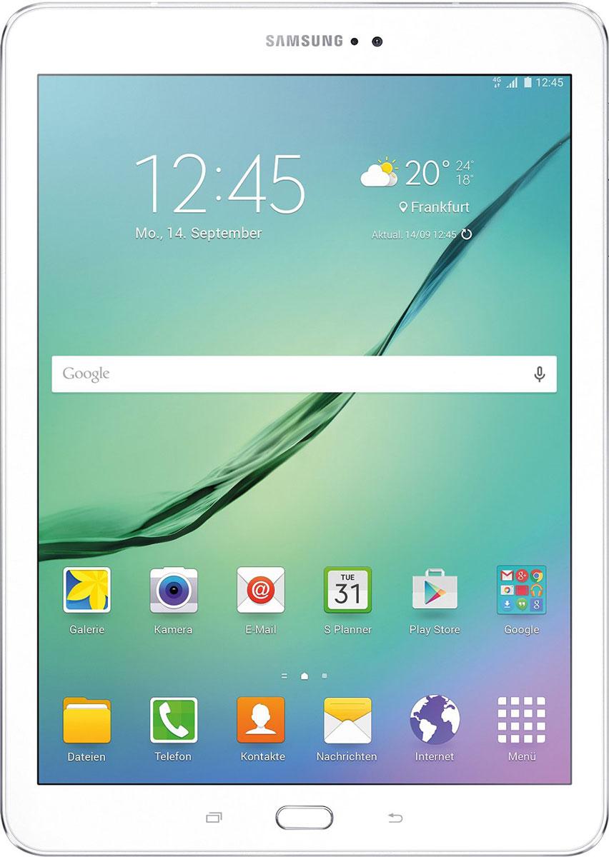 Samsung Galaxy Tab S2 8.0 SM-T719, WhiteSM-T719NZWESERПланшет Samsung Galaxy Tab S2 выполнен из цельно металлического корпуса с толщиной всего 5.6 миллиметров и по праву является самым тонким планшетом в мире. При весе всего 272 грамма и диагональю 8 дюймов является еще и самым лёгким в своём сегменте. Стоит отметить и форм-фактор дисплея, с соотношение сторон 4:3, с таким дисплеем гораздо комфортнее пользоваться социальными сетями и интернет браузером или просто читать книгу.Планшет Samsung Galaxy Tab S2 обладает потрясающим Super AMOLED дисплеем с разрешением 2048x1536 пикселей. Два четырёхъядерных процессоров с чистотой 1,9 ГГц и 1,3 ГГц, 3 гигабайта оперативной памяти и 32 встроенной, которую можно увеличить картой памяти MicroSD до 128 гигабайт. Основная камера, делает отличные фото даже при слабом освещении, благодаря 8 мегапикселям и светосилы 1.9, а фронтальная, 2.1 мегапикселя для скайпа и селфи. Для зашиты персональных данных воспользуйтесь инновационным сканером отпечатка пальцев. Или блокируйте планшет по отпечатку. Чтобы разблокировать, просто прикоснитесь с кнопке Home.Планшет Samsung Galaxy Tab S2 работает под самой инновационной мобильной операционной системой Android 5.0, Lollipop, которая обеспечивает работу сразу в нескольких приложениях на одном экране. Для работы с офисными документами на планшете уже установлен пакет Microsoft Office, который работает со всеми стандартными документами. Для более длительной работы вы можете использовать режим максимально энергосбережения и продлить работу планшета в несколько раз. Планшет имеет режим специально предназначенный для детей, в котором вы можете ограничь доступ к файлам и приложениям, а так же ограничить время работы.Планшет сертифицирован EAC и имеет русифицированный интерфейс, меню и Руководство пользователя.