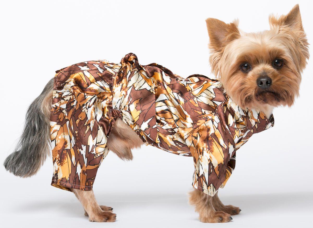 Халат для собак Yoriki Шелк, для мальчика. Размер S кепка для собак yoriki плащевка цветная размер универсальный