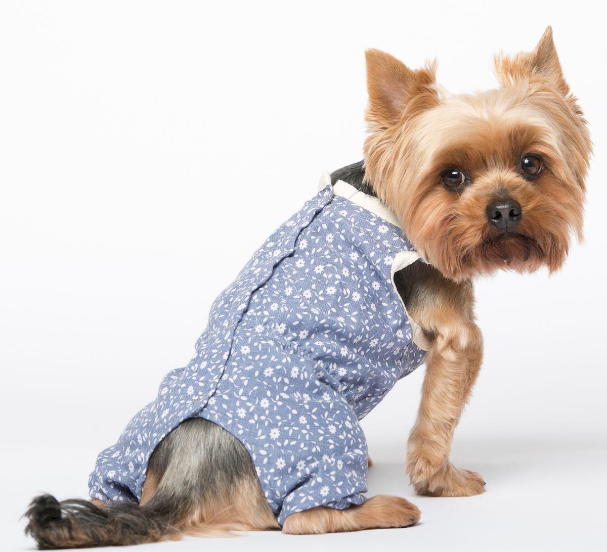 Комбинезон для собак Yoriki Цветочный, для девочки. Размер XXL комбинезон для собак dogmoda doggs зимний для девочки цвет фиолетовый размер xxl